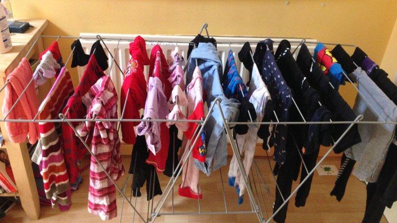 Wie man die Wäsche trocken bekommt, wenn die Sonne nicht ...